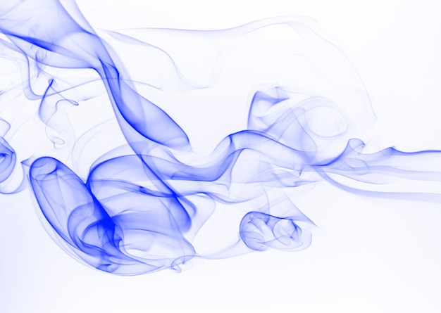 Streszczenie niebieski dym Premium Zdjęcia