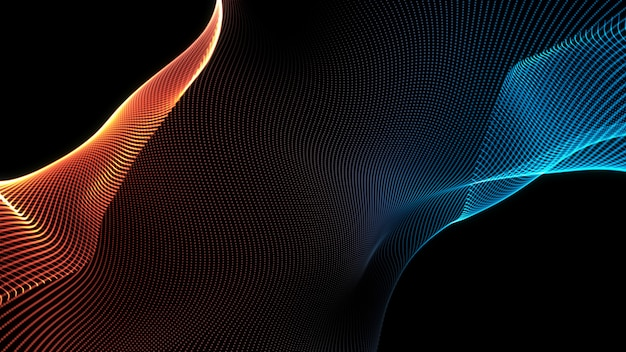 Streszczenie Niebieski I Czerwony Fala Tekstura Tło Premium Zdjęcia