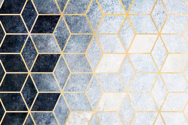 Streszczenie Niebieski Sześciennych Wzorzyste Darmowe Zdjęcia