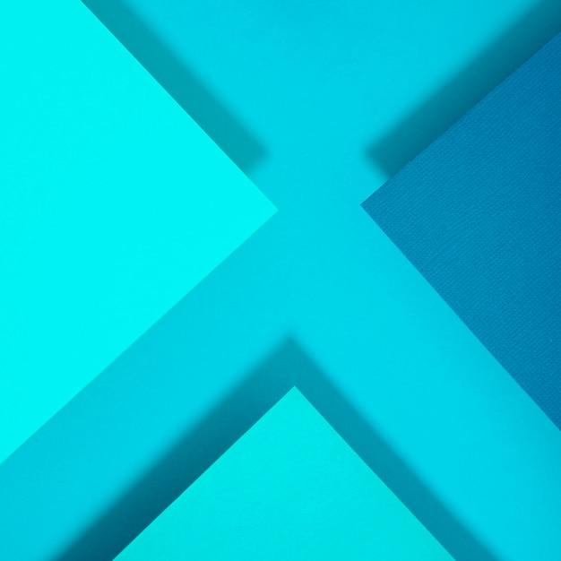 Streszczenie papier niebieski wielokąt x list projekt Darmowe Zdjęcia
