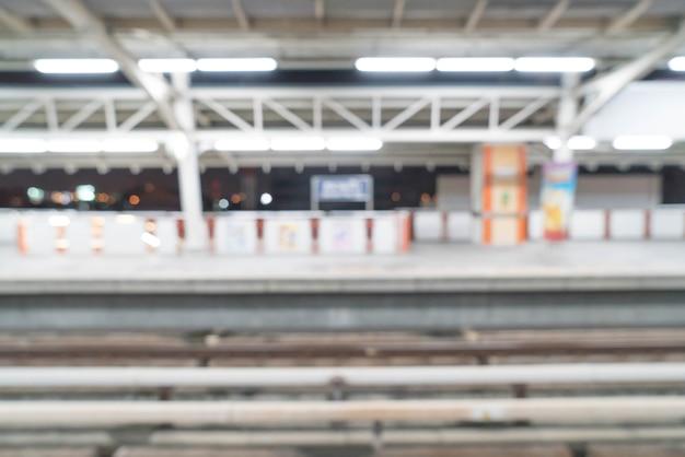 Streszczenie Rozmycie Elektryczne Stacji Kolejowej Darmowe Zdjęcia