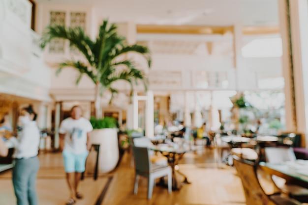 Streszczenie Rozmycie Hotelowa Restauracja Na Tle Premium Zdjęcia