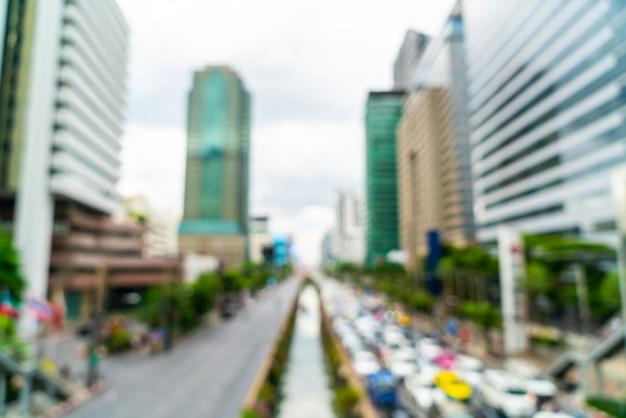 Streszczenie rozmycie i defocused bangkok city w tajlandii Premium Zdjęcia