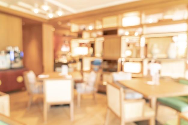 Streszczenie Rozmycie I Nieostre Restauracja Hotelowa Na Tle Premium Zdjęcia