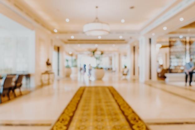 Streszczenie Rozmycie Lobby Luksusowego Hotelu Na Tle Premium Zdjęcia
