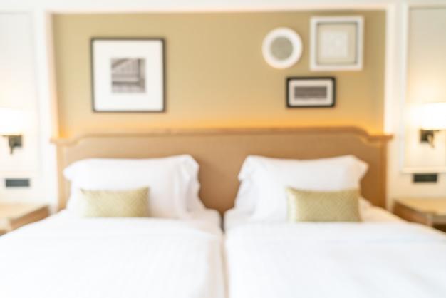 Streszczenie Rozmycie Sypialni Hotelowej Na Tle Premium Zdjęcia