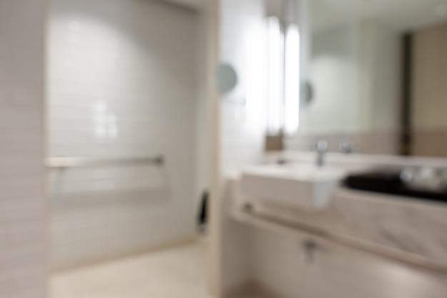 Streszczenie Rozmycie Wnętrza łazienki Na Tle Premium Zdjęcia