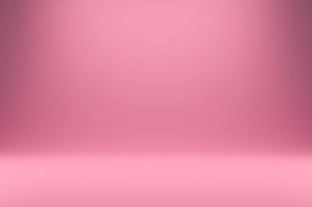 Streszczenie Różowe I Gradientowe światło W Studio Tło. Pusty Wyświetlacz Lub Czysty Pokój Do Pokazywania Produktu. Realistyczne Renderowanie 3d. Premium Zdjęcia