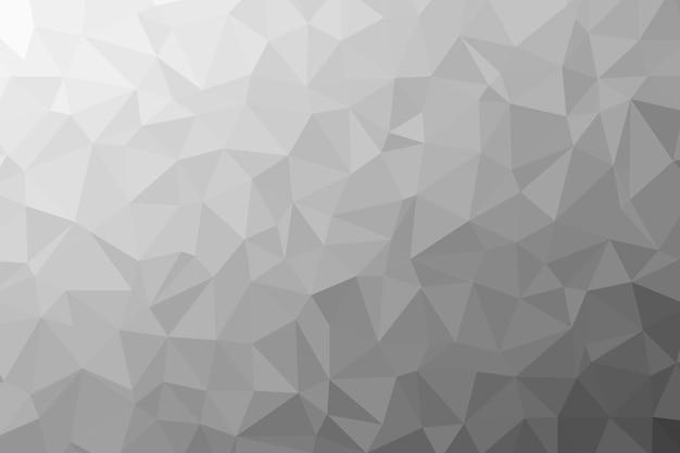 Streszczenie Tekstura Tło Czarno-białe Low Poly. Ilustracja Kreatywnych Wielokątne Tło Premium Zdjęcia