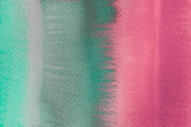 Streszczenie Tło Akwarela Zielony I Różowy Darmowe Zdjęcia
