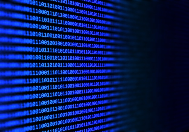 Streszczenie tło kodu binarnego Darmowe Zdjęcia