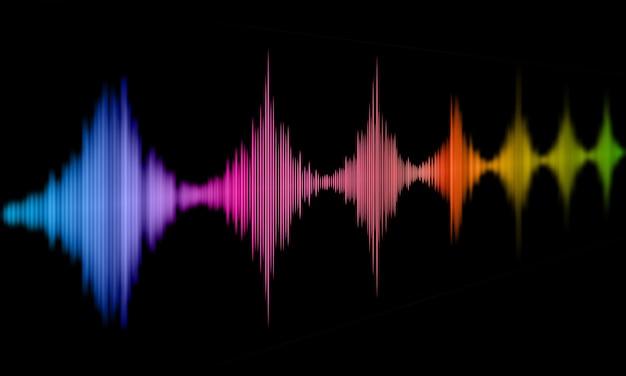Streszczenie Tło Z Projektowania Fal Dźwiękowych Darmowe Zdjęcia