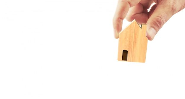 Struktura Mieszkaniowa Domu W Ręku Premium Zdjęcia