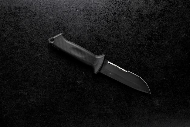 Strzał Zbliżenie Stały Ostry Nóż Na Czarno Darmowe Zdjęcia