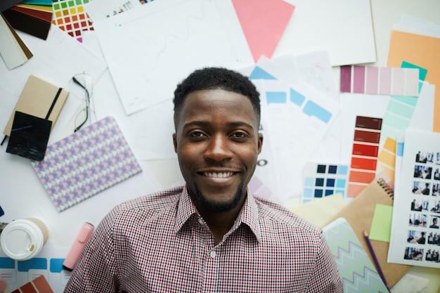 Student Sztuki Afroamerykańskiej Premium Zdjęcia