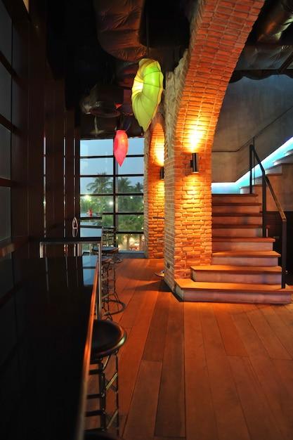Styl Dekoracji Baru Loft Premium Zdjęcia