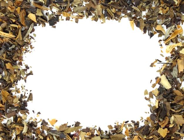 Suchej Herbaty Liścia Tło Premium Zdjęcia