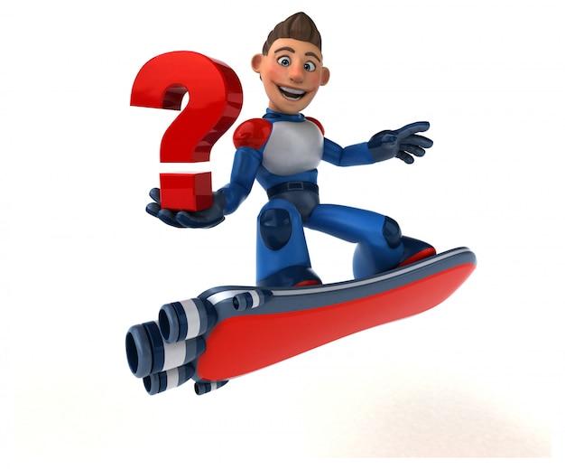 Super Nowoczesny Superbohater - Postać 3d Premium Zdjęcia