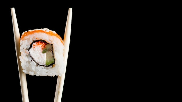 Sushi Roll Z Miejsca Na Kopię Premium Zdjęcia
