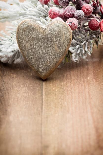 Świąteczne Dekoracje Na Drewniane Tła. Premium Zdjęcia