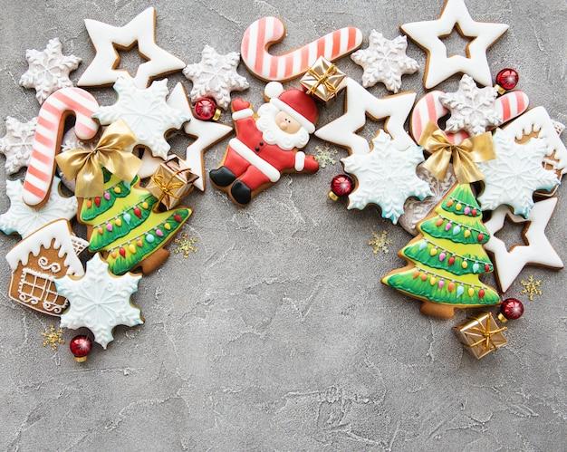 Świąteczne dekoracje z ciasteczkami Premium Zdjęcia