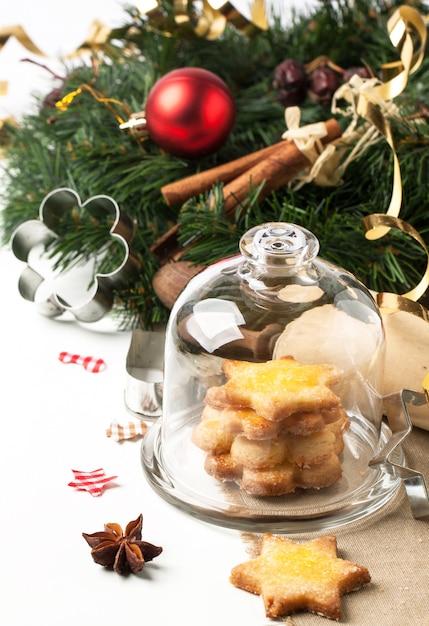 Świąteczne Domowe Ciasteczka Premium Zdjęcia