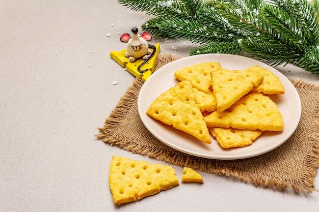 Świąteczne Krakersy Serowe Premium Zdjęcia