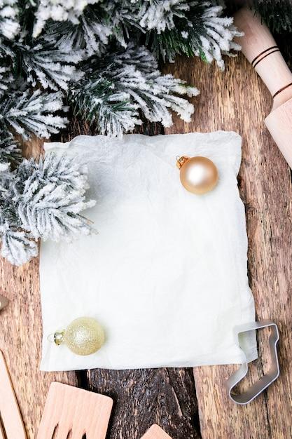 Świąteczny Plan Menu. Do Pisania Menu świątecznego. Widok Z Góry Premium Zdjęcia
