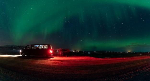 Światło zorzy polarnej Premium Zdjęcia