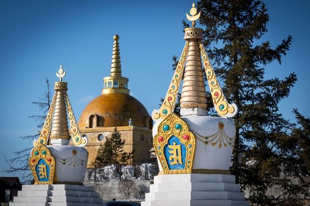 Świątynia Buddyjska Datsan Rinpocze Bagsha Premium Zdjęcia
