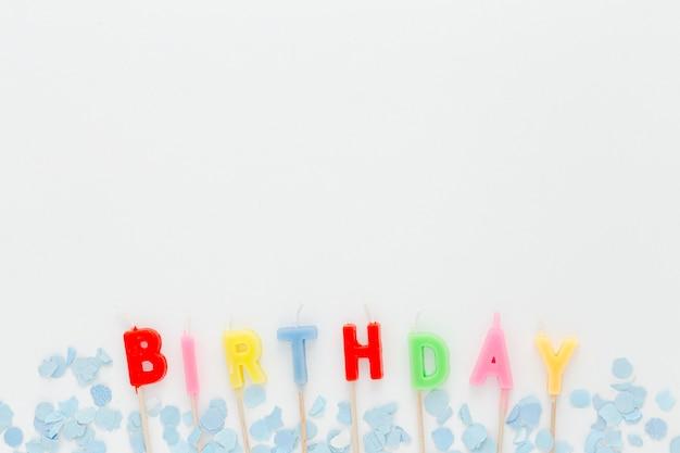 Świeczki Urodzinowe Z Miejsca Na Kopię Premium Zdjęcia