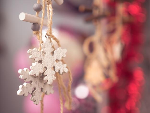 Święto bożego narodzenia dekoracji szczęścia Premium Zdjęcia