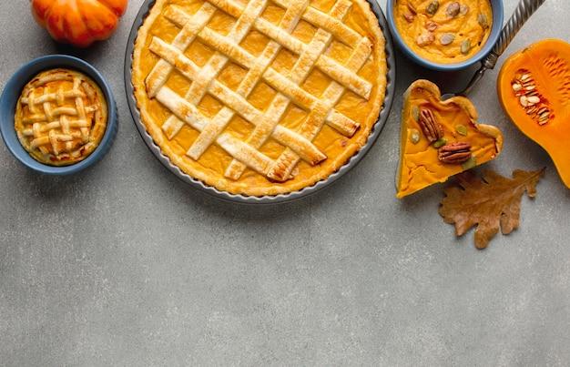 Święto Dziękczynienia Ciasto Z Dyni Z Miejsca Na Kopię Darmowe Zdjęcia
