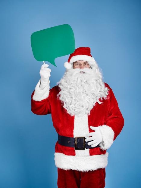 Święty Mikołaj Trzymając Dymek W Studio Strzał Darmowe Zdjęcia