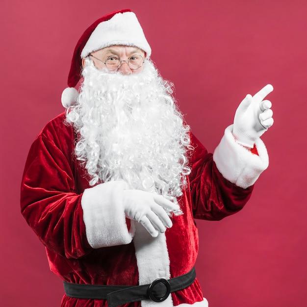 Święty Mikołaj W Szkłach Z Wskazywać Rękę Darmowe Zdjęcia