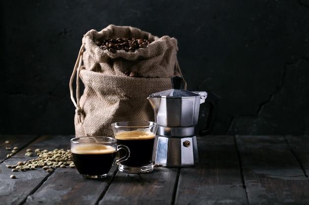 Świeża kawa espresso Premium Zdjęcia