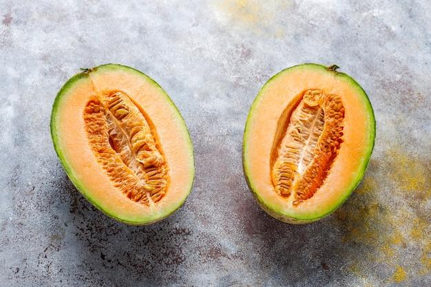 Świeży Organiczny Melon Kantalupa. Darmowe Zdjęcia