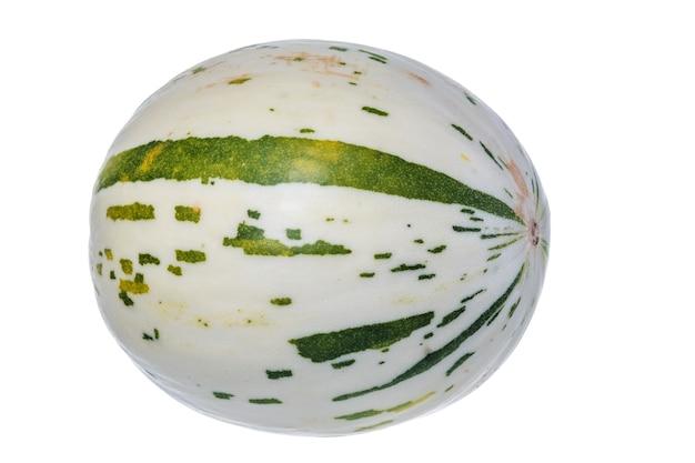 Świeży Soczysty Biały Melon Dino Na Białym Tle Premium Zdjęcia