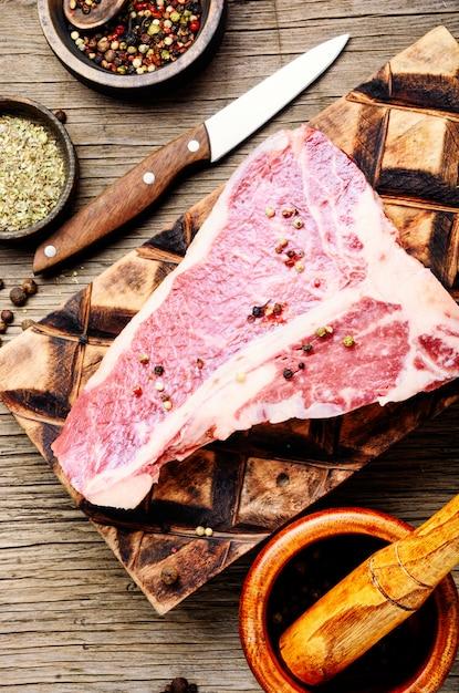 Świeży Stek Wołowy Premium Zdjęcia