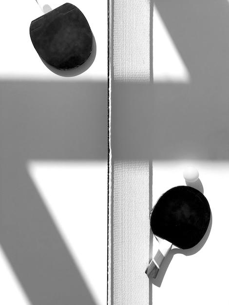 Śwista pong stołu widok z lotu ptaka Darmowe Zdjęcia