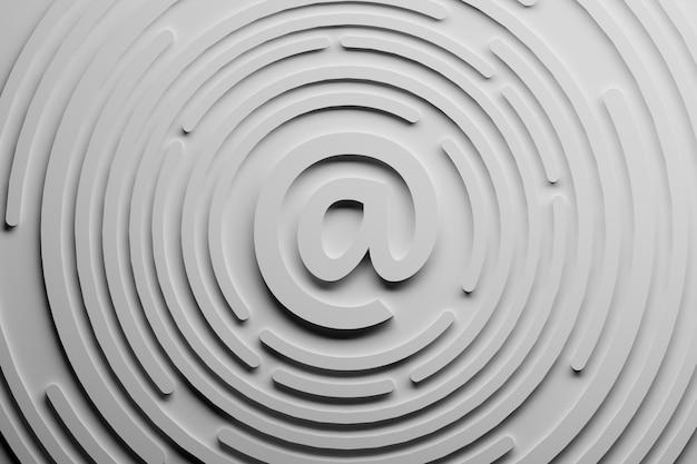 Symbol e-mail korespondencja z wiadomościami Premium Zdjęcia