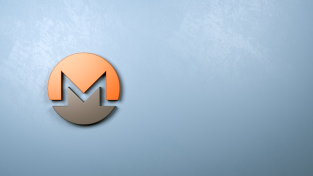 Symbol Monero Kształt ściany Premium Zdjęcia