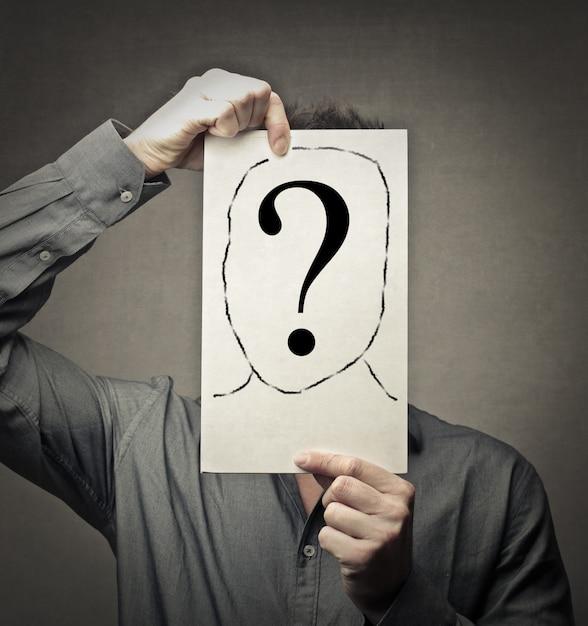 Symbol pytania tożsamości Premium Zdjęcia