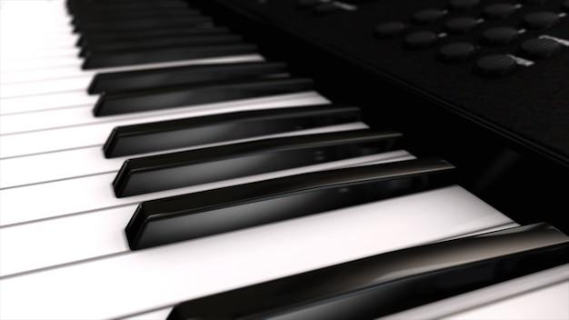 Syntezator Instrumentów Muzycznych Z Bliska Premium Zdjęcia