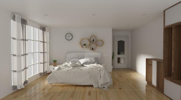 Sypialnia I Nowoczesny Styl Loft Zdjęcie Premium Pobieranie