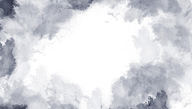 Szara akwarela tło tekstura Premium Zdjęcia