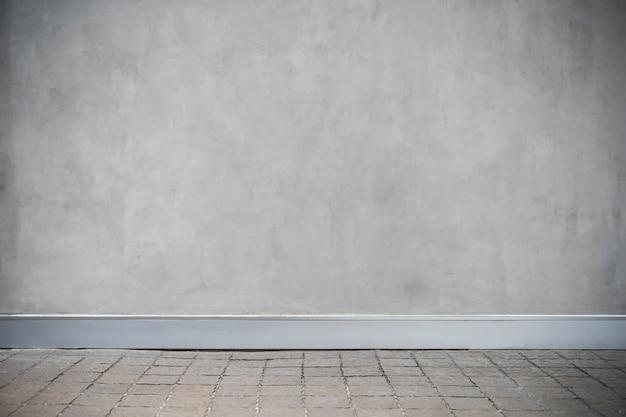 Szara Betonowa ściana Z Grunge Podłoga Premium Zdjęcia