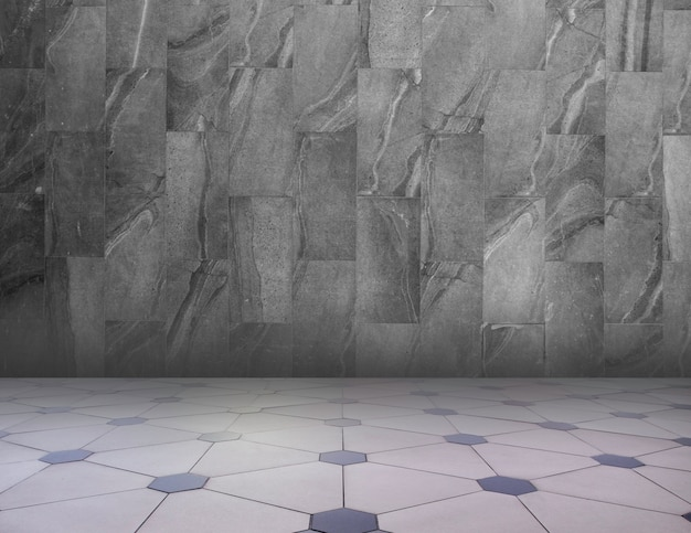 Szary / Biały Streszczenie Tło Tekstura Geometryczne. Geometryczny Wzór Podłogi I Granitowa ściana. Premium Zdjęcia