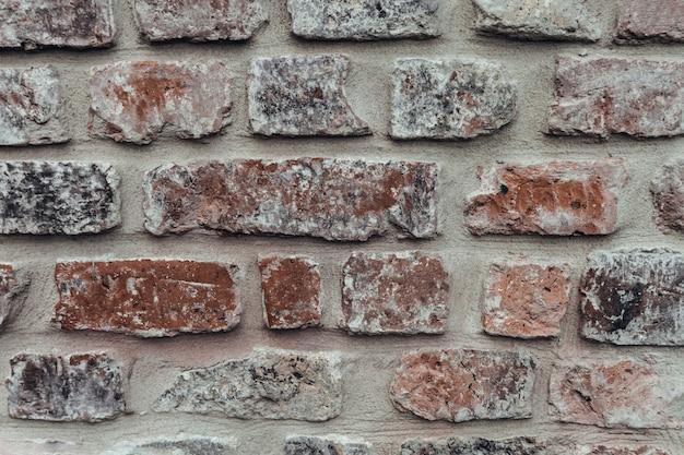 Szary I Czerwony Mur Z Cegły Premium Zdjęcia