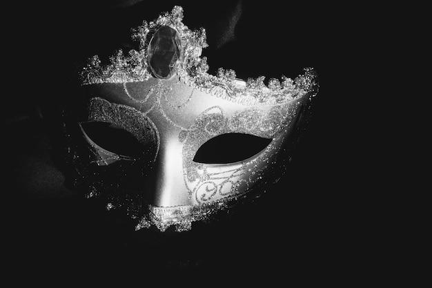 Szary weneckie maski na ciemnym tle Darmowe Zdjęcia